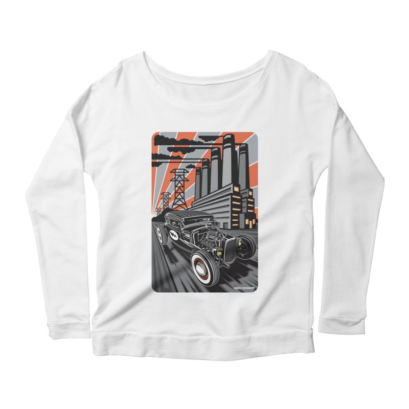 VOLTAGE HIGHWAY Women's Scoop Neck Longsleeve T-Shirt by Max Grundy Design's Artist Shop