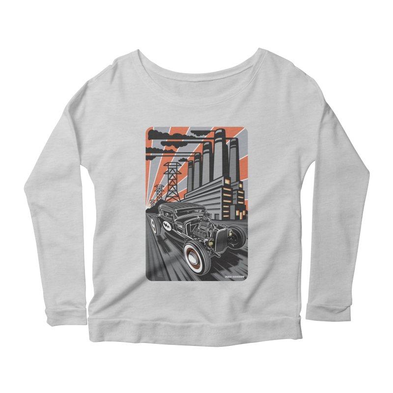 VOLTAGE HIGHWAY Women's Scoop Neck Longsleeve T-Shirt by Max Grundy Design's Artist Shop