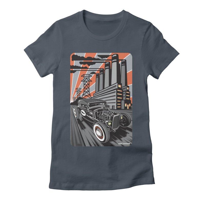 VOLTAGE HIGHWAY Women's T-Shirt by Max Grundy Design's Artist Shop