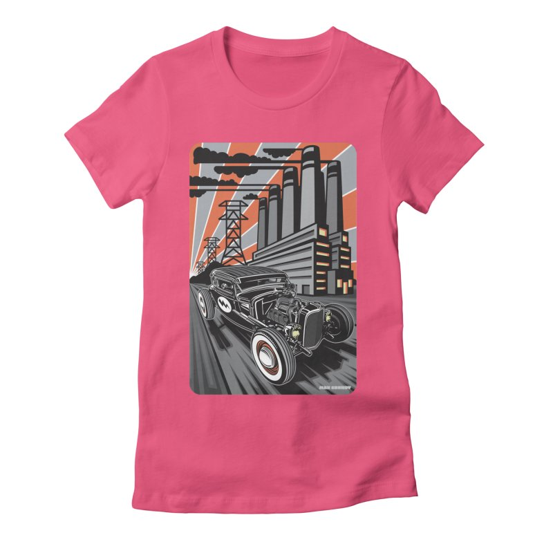 VOLTAGE HIGHWAY Women's Fitted T-Shirt by Max Grundy Design's Artist Shop