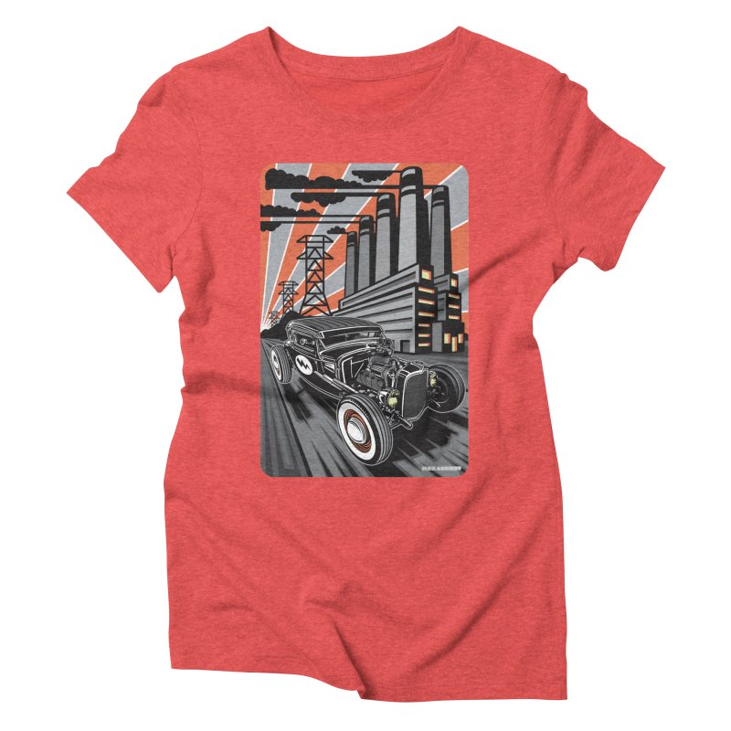 VOLTAGE HIGHWAY Women's Triblend T-Shirt by Max Grundy Design's Artist Shop