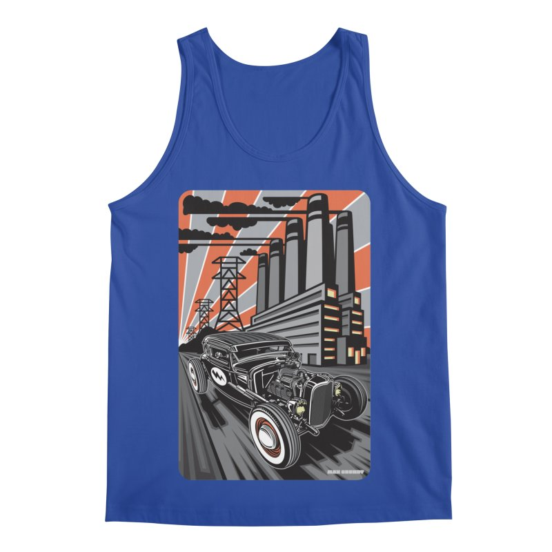 VOLTAGE HIGHWAY Men's Regular Tank by Max Grundy Design's Artist Shop