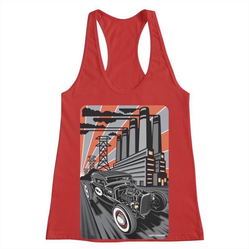 VOLTAGE HIGHWAY Women's Racerback Tank by Max Grundy Design's Artist Shop