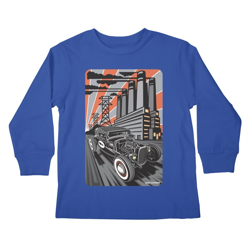 VOLTAGE HIGHWAY Kids Longsleeve T-Shirt by Max Grundy Design's Artist Shop