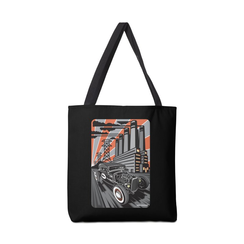 VOLTAGE HIGHWAY Accessories Tote Bag Bag by Max Grundy Design's Artist Shop