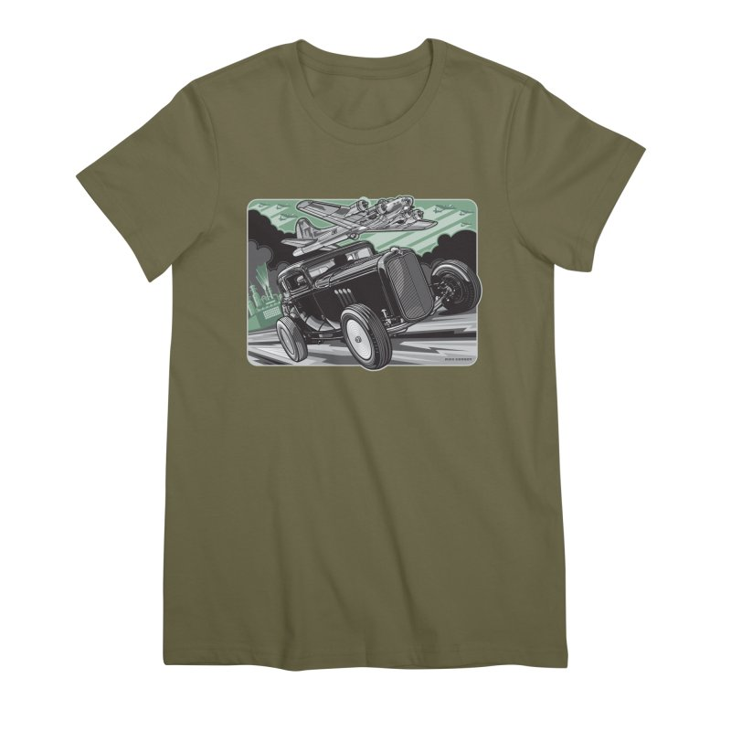CHEMICAL CITY COUPE Women's Premium T-Shirt by Max Grundy Design's Artist Shop