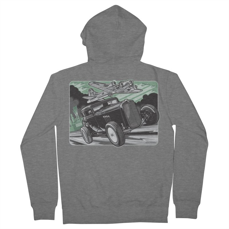CHEMICAL CITY COUPE Women's French Terry Zip-Up Hoody by Max Grundy Design's Artist Shop