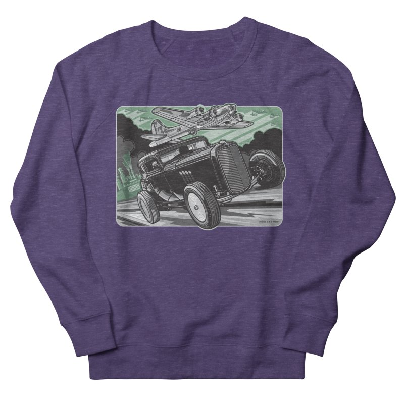 CHEMICAL CITY COUPE Women's French Terry Sweatshirt by Max Grundy Design's Artist Shop