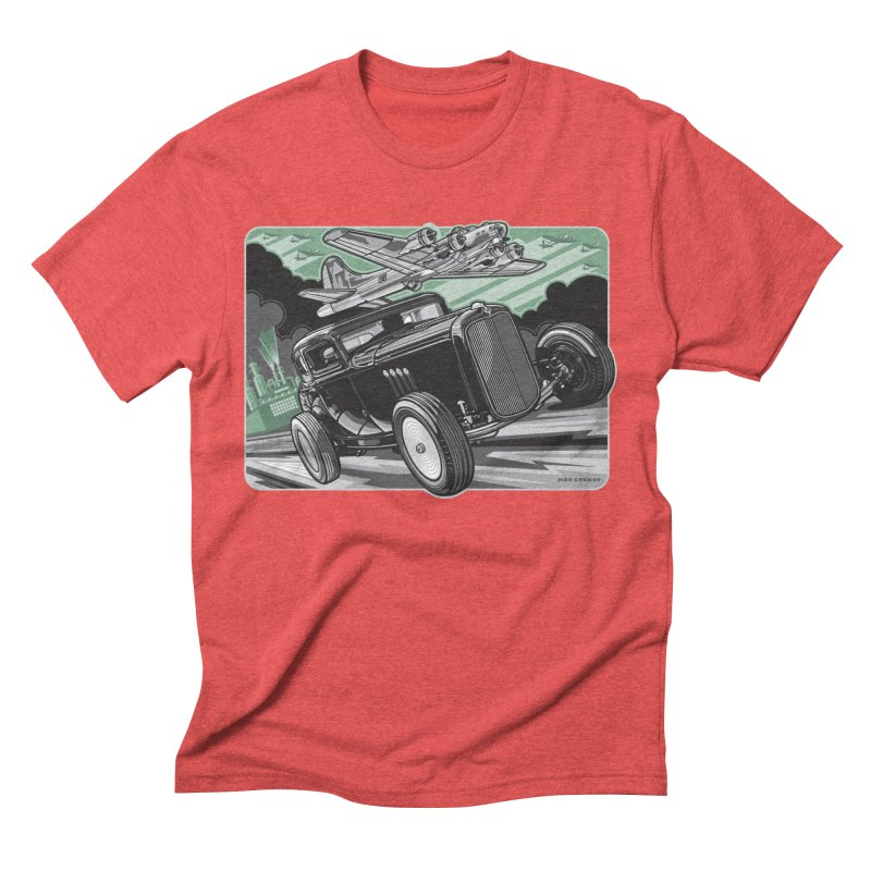 CHEMICAL CITY COUPE Men's Triblend T-Shirt by Max Grundy Design's Artist Shop