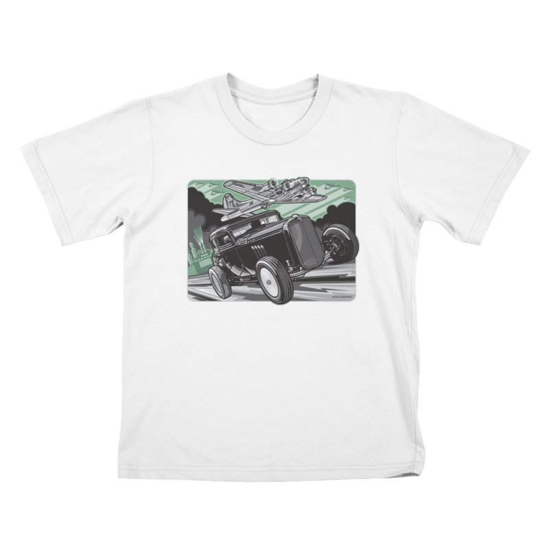 CHEMICAL CITY COUPE Kids T-Shirt by Max Grundy Design's Artist Shop