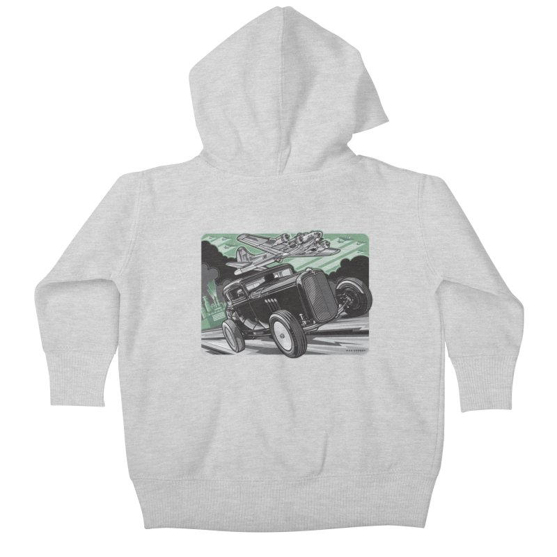 CHEMICAL CITY COUPE Kids Baby Zip-Up Hoody by Max Grundy Design's Artist Shop