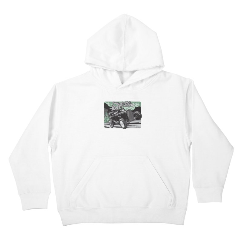 CHEMICAL CITY COUPE Kids Pullover Hoody by Max Grundy Design's Artist Shop