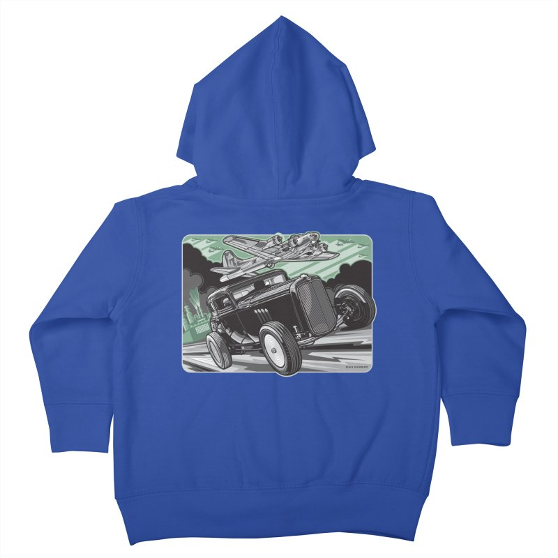 CHEMICAL CITY COUPE Kids Toddler Zip-Up Hoody by Max Grundy Design's Artist Shop