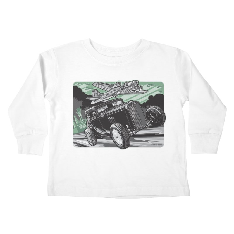 CHEMICAL CITY COUPE Kids Toddler Longsleeve T-Shirt by Max Grundy Design's Artist Shop