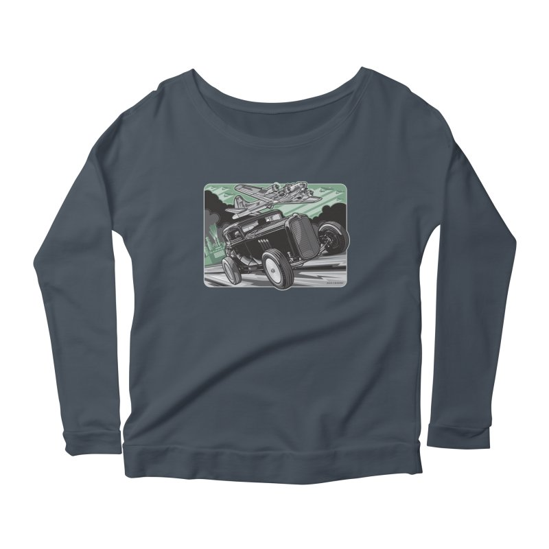 CHEMICAL CITY COUPE Women's Scoop Neck Longsleeve T-Shirt by Max Grundy Design's Artist Shop