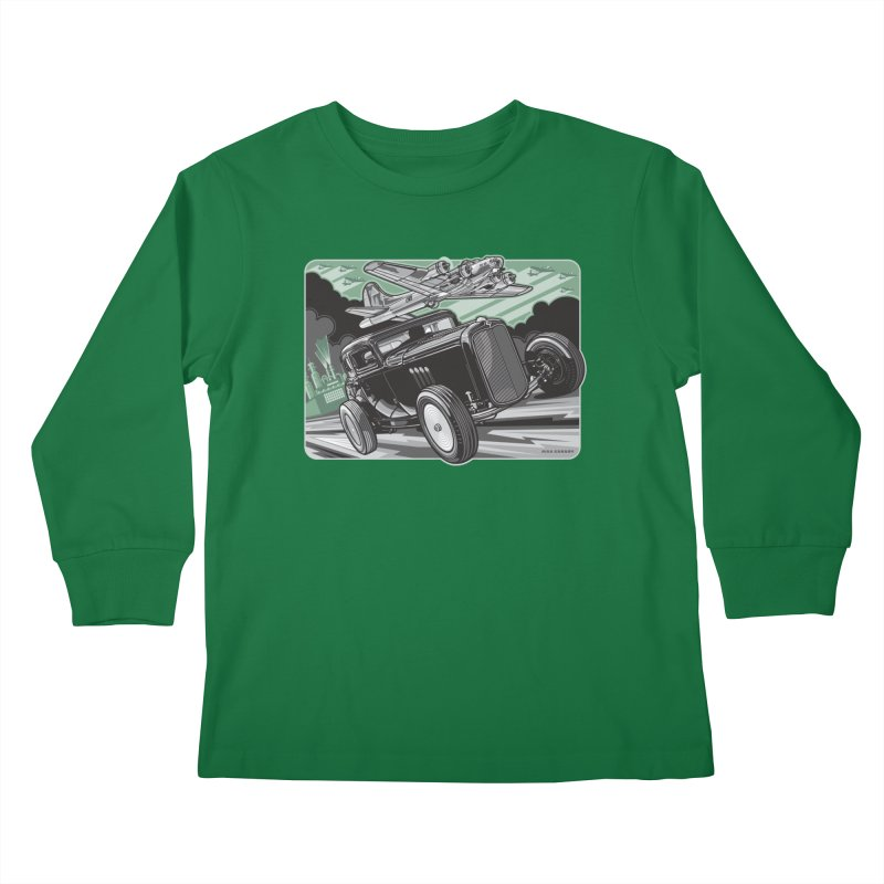 CHEMICAL CITY COUPE Kids Longsleeve T-Shirt by Max Grundy Design's Artist Shop
