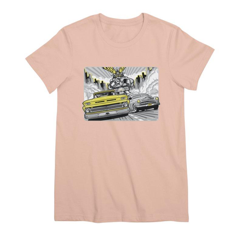 DRIVEN Women's Premium T-Shirt by Max Grundy Design's Artist Shop