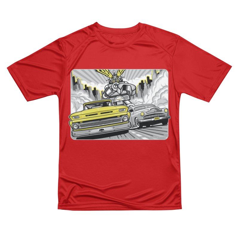 DRIVEN Men's Performance T-Shirt by Max Grundy Design's Artist Shop