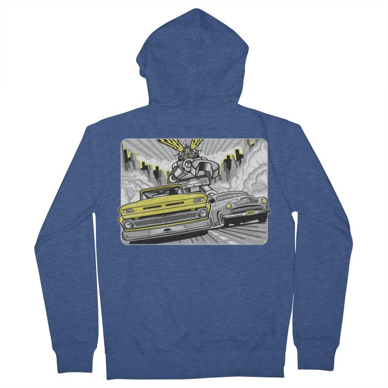 DRIVEN Men's French Terry Zip-Up Hoody by Max Grundy Design's Artist Shop
