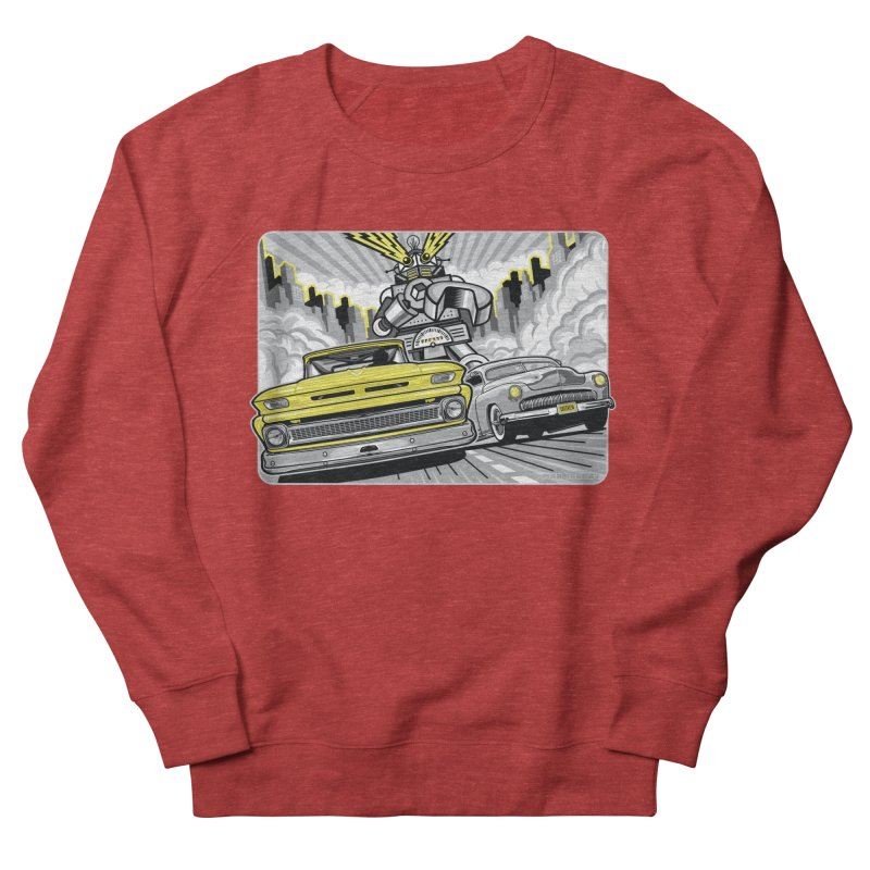 DRIVEN Men's French Terry Sweatshirt by Max Grundy Design's Artist Shop