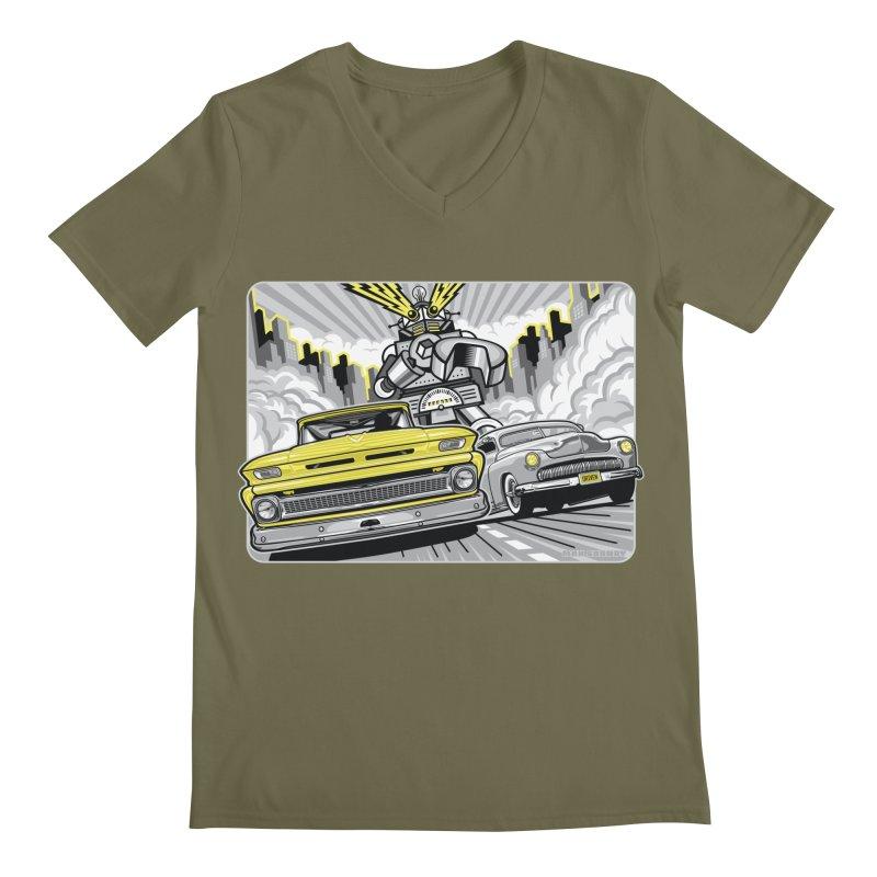DRIVEN Men's Regular V-Neck by Max Grundy Design's Artist Shop