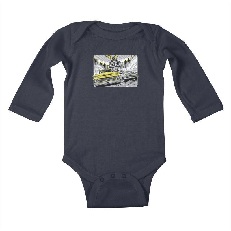 DRIVEN Kids Baby Longsleeve Bodysuit by Max Grundy Design's Artist Shop