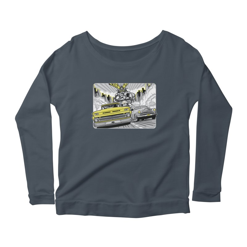 DRIVEN Women's Scoop Neck Longsleeve T-Shirt by Max Grundy Design's Artist Shop