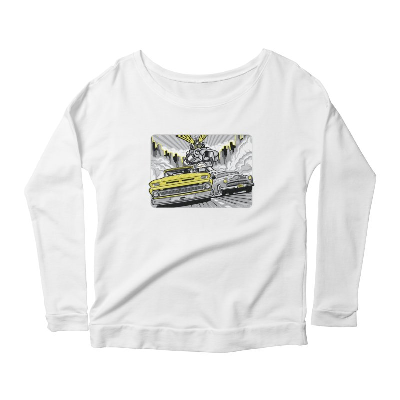 DRIVEN Women's Scoop Neck Longsleeve T-Shirt by Max Grundy Design's Artist Shop