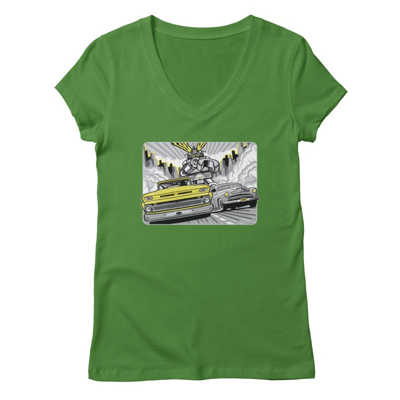 DRIVEN Women's Regular V-Neck by Max Grundy Design's Artist Shop