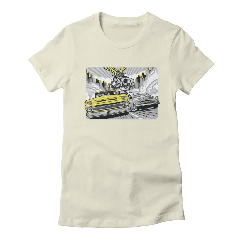 DRIVEN Women's Fitted T-Shirt by Max Grundy Design's Artist Shop