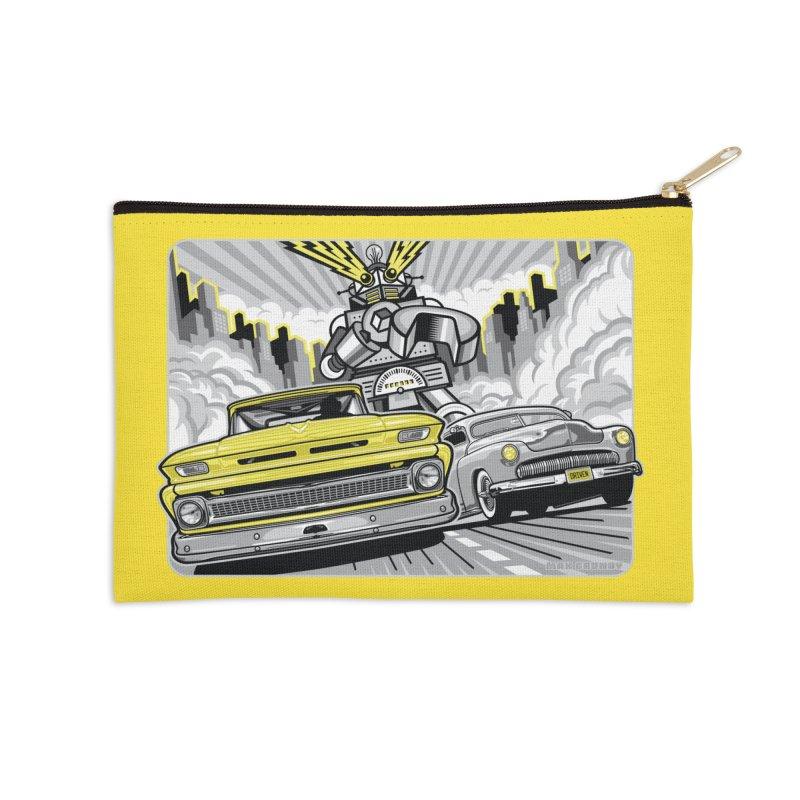 DRIVEN Accessories Zip Pouch by Max Grundy Design's Artist Shop