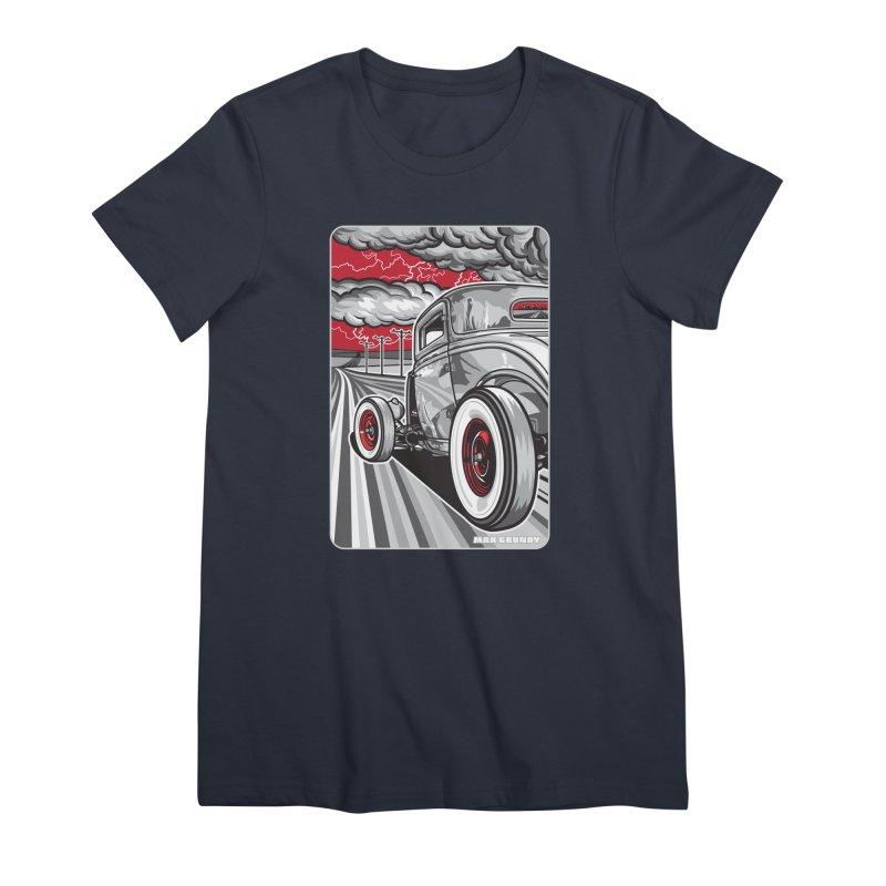 LIGHTNING ROD Women's Premium T-Shirt by Max Grundy Design's Artist Shop