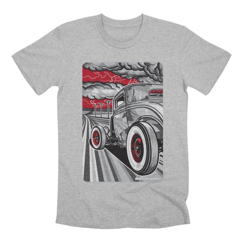 LIGHTNING ROD Men's Premium T-Shirt by Max Grundy Design's Artist Shop