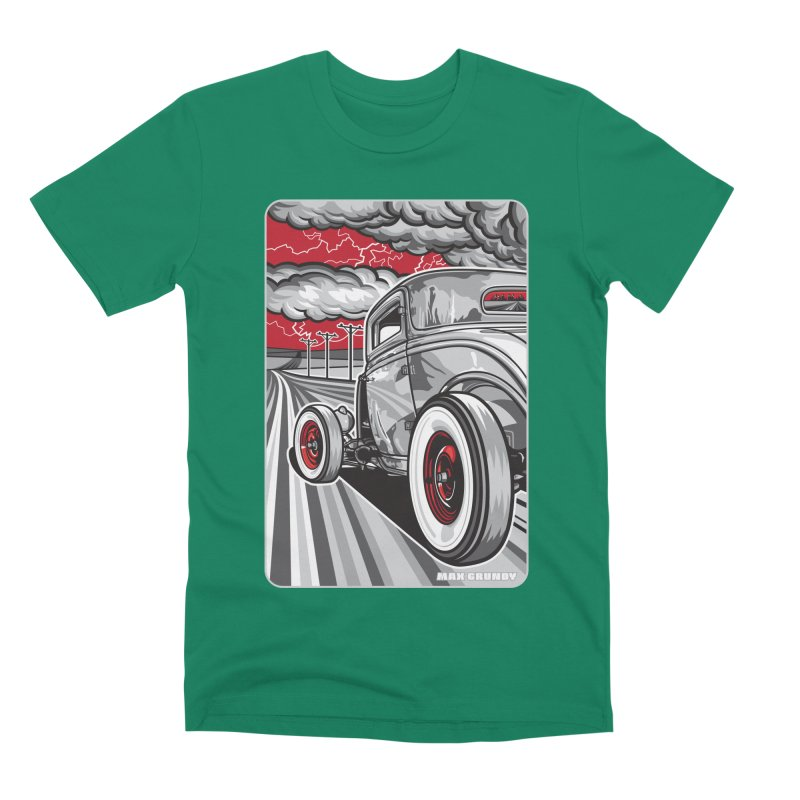 LIGHTNING ROD Men's Premium T-Shirt by Max Grundy Design's Artist Shop