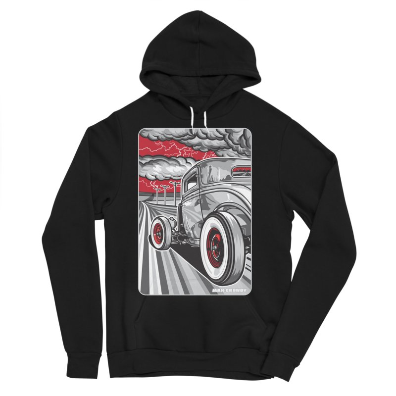 LIGHTNING ROD Men's Sponge Fleece Pullover Hoody by Max Grundy Design's Artist Shop