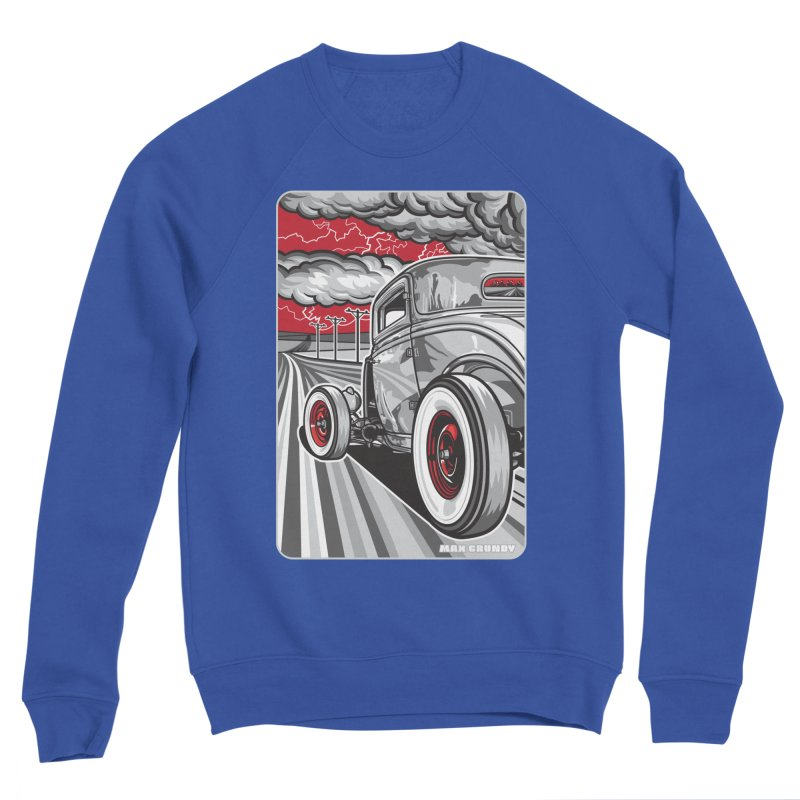 LIGHTNING ROD Women's Sponge Fleece Sweatshirt by Max Grundy Design's Artist Shop