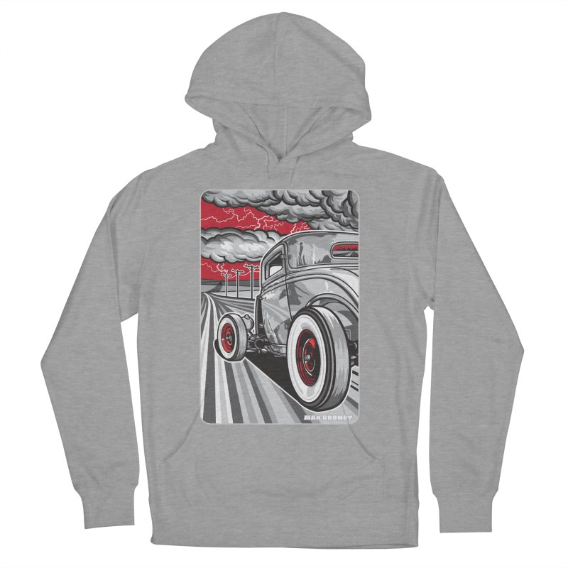 LIGHTNING ROD Women's French Terry Pullover Hoody by Max Grundy Design's Artist Shop