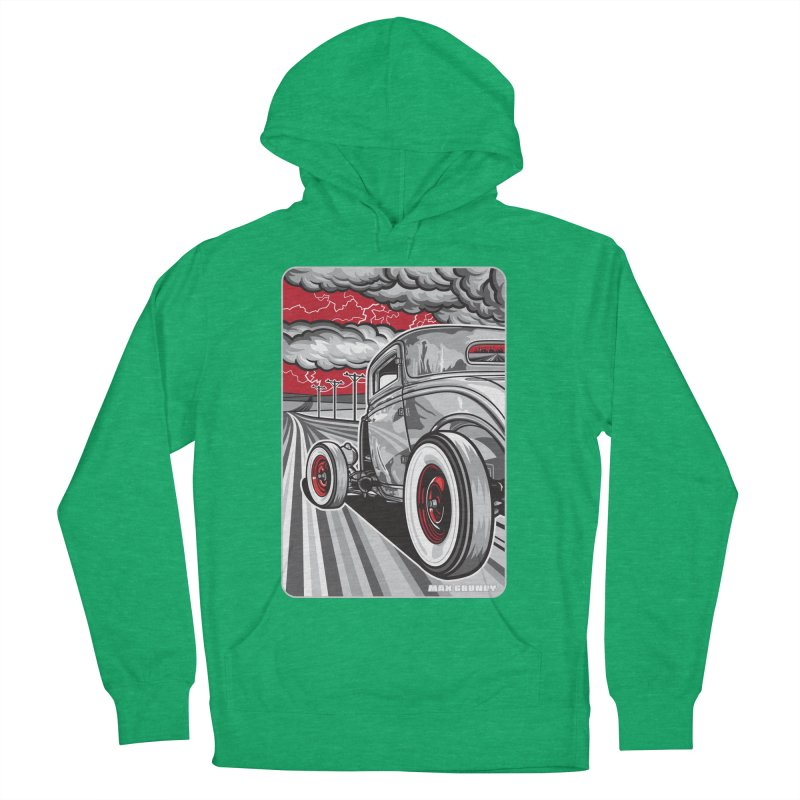 LIGHTNING ROD Men's French Terry Pullover Hoody by Max Grundy Design's Artist Shop