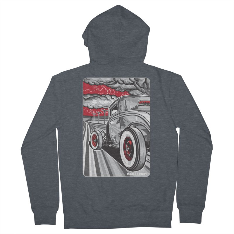 LIGHTNING ROD Women's French Terry Zip-Up Hoody by Max Grundy Design's Artist Shop