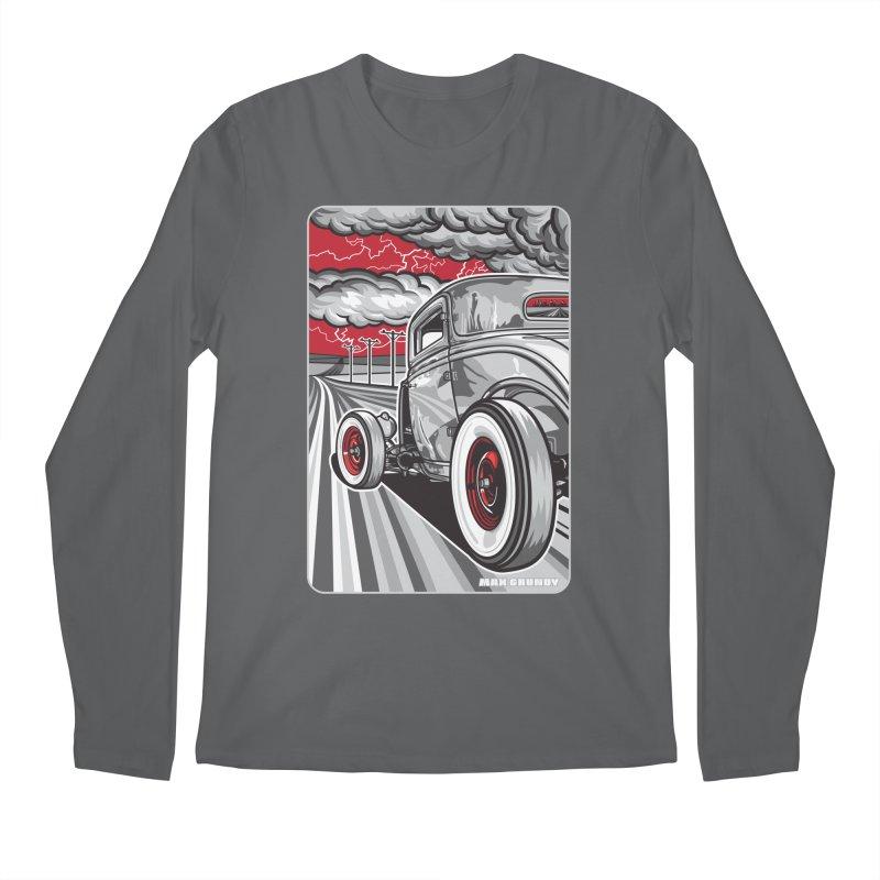 LIGHTNING ROD Men's Regular Longsleeve T-Shirt by Max Grundy Design's Artist Shop