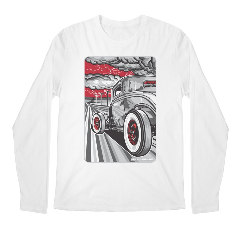 LIGHTNING ROD Men's Regular Longsleeve T-Shirt by Max Grundy Design's Artist Shop