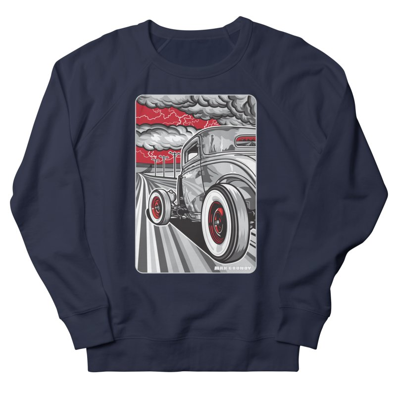 LIGHTNING ROD Women's French Terry Sweatshirt by Max Grundy Design's Artist Shop