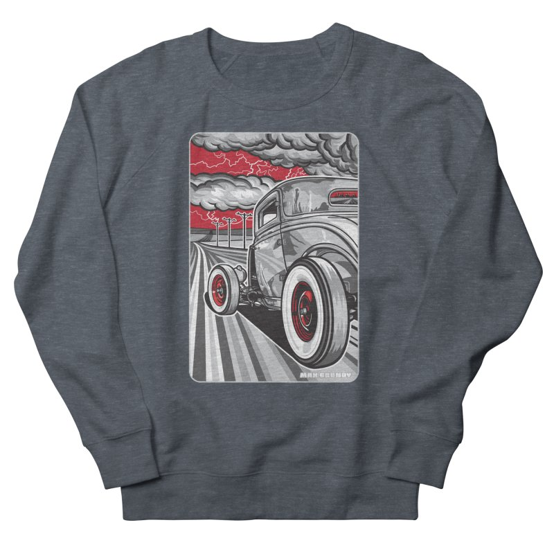 LIGHTNING ROD Men's French Terry Sweatshirt by Max Grundy Design's Artist Shop