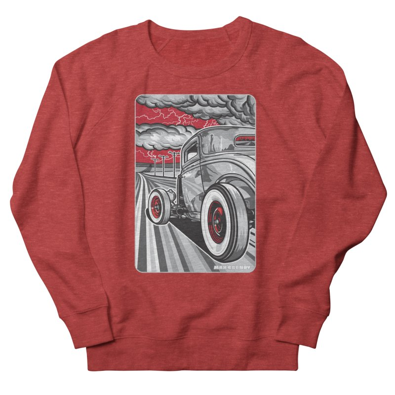 LIGHTNING ROD Men's French Terry Sweatshirt by Max Grundy Design's Artist Shop
