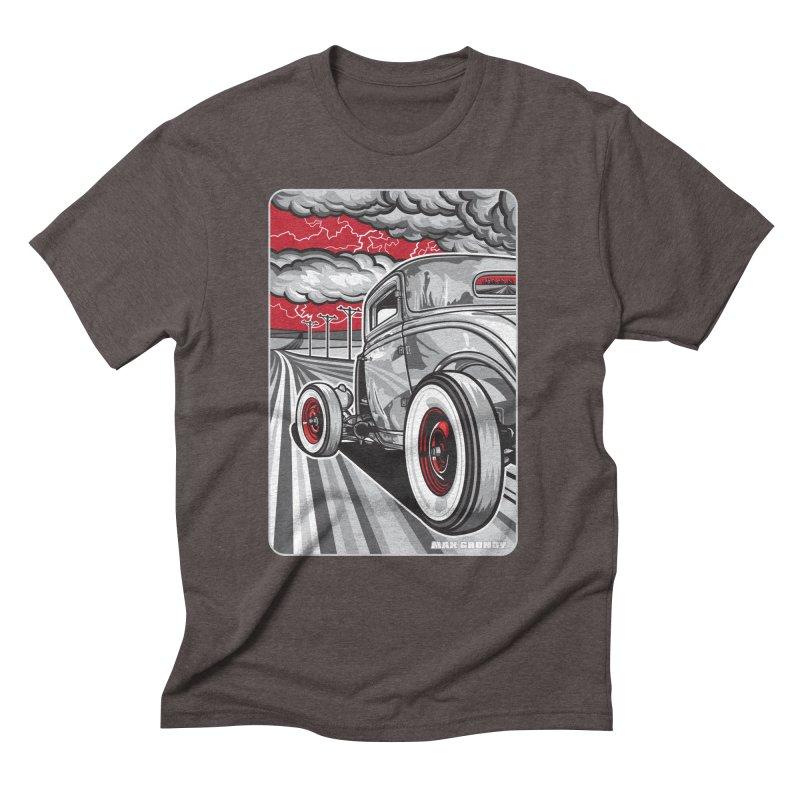 LIGHTNING ROD Men's Triblend T-Shirt by Max Grundy Design's Artist Shop