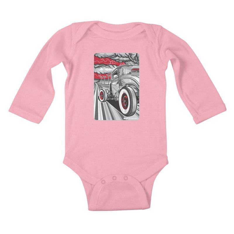 LIGHTNING ROD Kids Baby Longsleeve Bodysuit by Max Grundy Design's Artist Shop