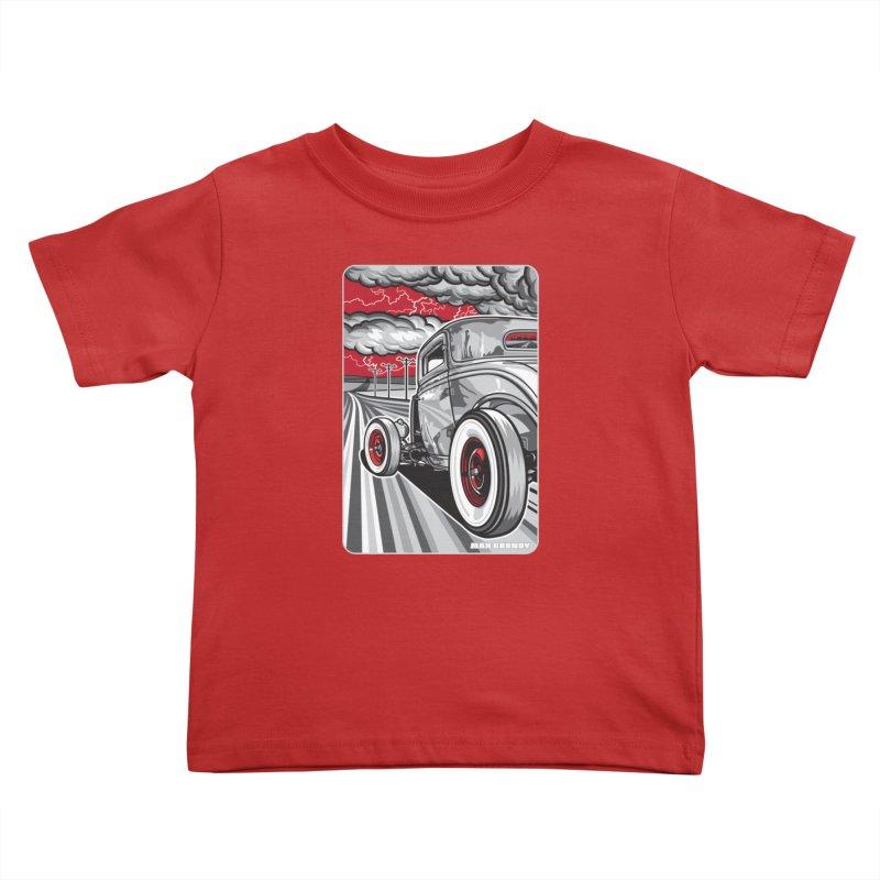 LIGHTNING ROD Kids Toddler T-Shirt by Max Grundy Design's Artist Shop