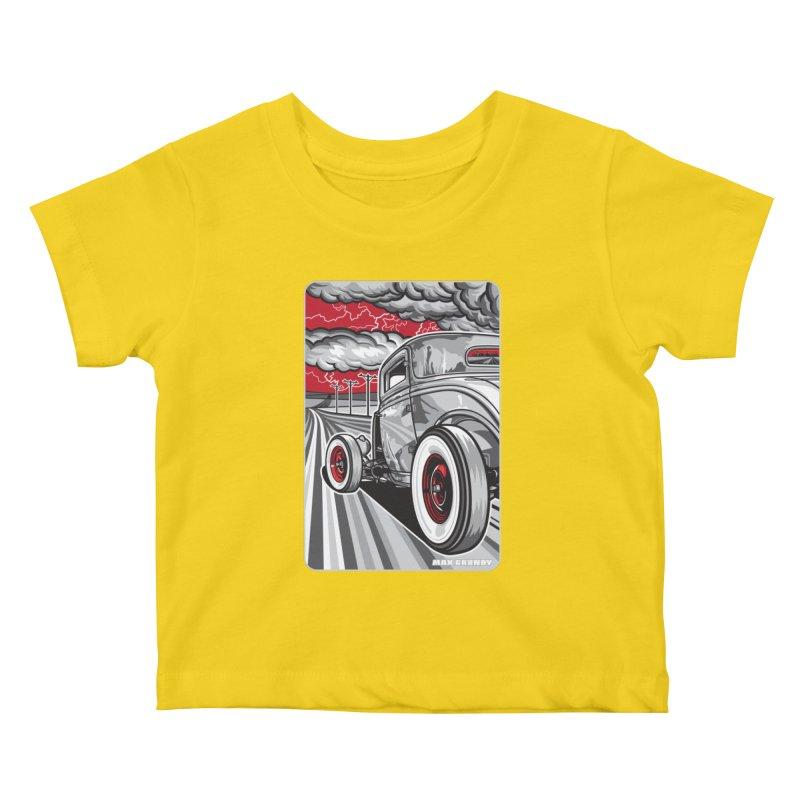 LIGHTNING ROD Kids Baby T-Shirt by Max Grundy Design's Artist Shop