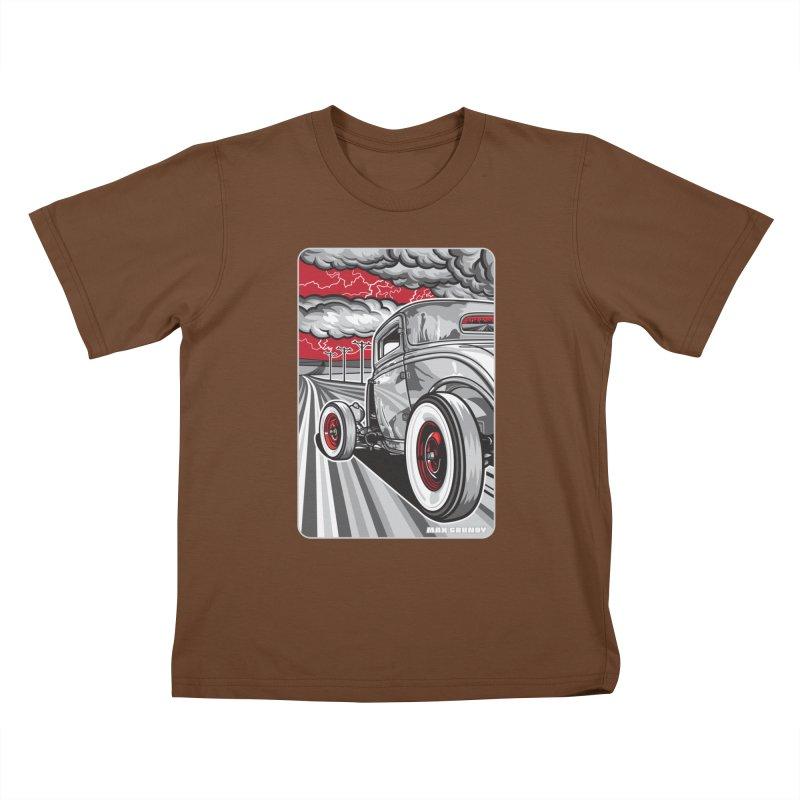 LIGHTNING ROD Kids T-Shirt by Max Grundy Design's Artist Shop