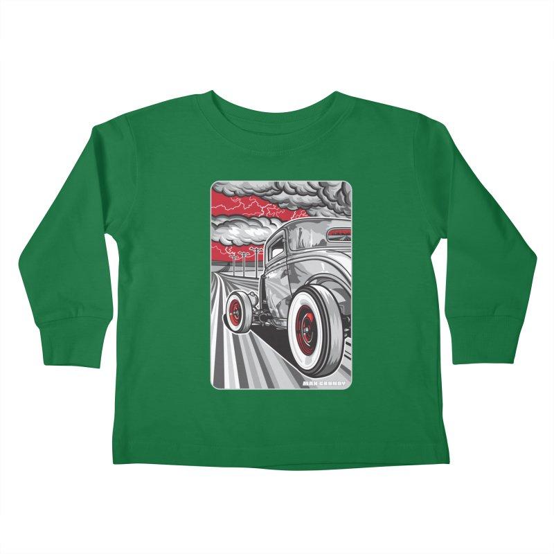 LIGHTNING ROD Kids Toddler Longsleeve T-Shirt by Max Grundy Design's Artist Shop